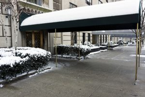 hotel awnings for the winter